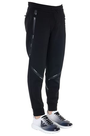 JOGGING PANTS IN BLACK FABRIC WITH LOGO TAPE SS 2019  EMPORIO ARMANI | 8 | 3G1P841JKRZ0999
