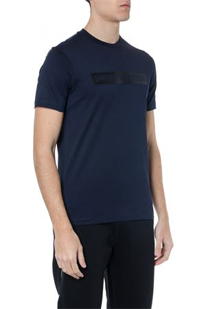 T SHIRT IN BLUE COTTON WITH LOGO PRINT SS 2019 EMPORIO ARMANI | 15 | 3G1T881J30Z0922