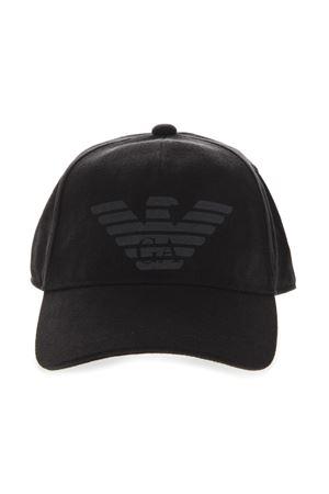 BLACK COTTON EMBROIDERY LOGO HAT SS19 EMPORIO ARMANI | 17 | 627252CC55800020