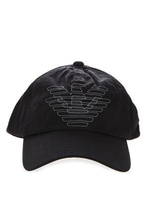 BLACK COTTON LOGO HAT SS19 EMPORIO ARMANI | 17 | 6275239P55500020