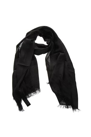 BLACK LINEN FRINGED SCARF SS19 EMPORIO ARMANI | 20 | 6352459P32913230