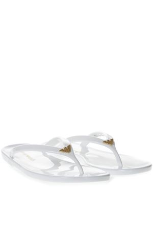 WHITE RUBBER SANDALS SS 2019 EMPORIO ARMANI | 87 | X3QS02XL81600001