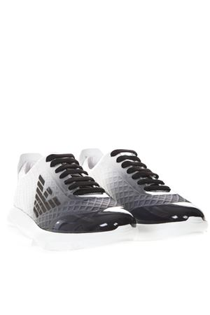 SHADED SNEAKERS IN WHITE AND BLACK TECHNICAL FABRIC SS 2019 EMPORIO ARMANI | 55 | X4X249XL797B078