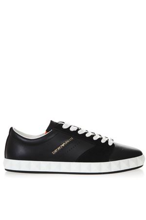 NAVY BLUE SNEAKERS IN SMOOTH AND SUEDED LEATHER SS 2019 EMPORIO ARMANI | 55 | X4X254XL694A083