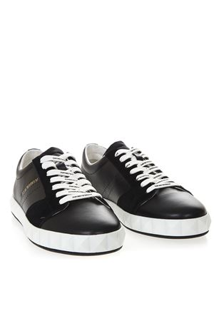 NAVY BLUE SNEAKERS IN SMOOTH AND SUEDED LEATHER SS 2019 EMPORIO ARMANI   55   X4X254XL694A083