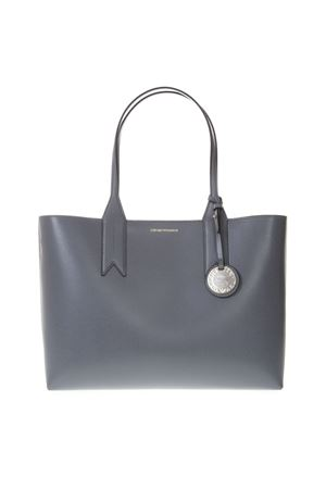 GREY SHOPPER IN FAUX LEATHER WITH LOGO CHARM SS 2019 EMPORIO ARMANI | 2 | Y3D081YH15A82778