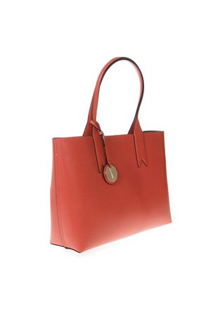 CORAL SHOPPER IN FAUX LEATHER WITH LOGO CHARM SS 2019 EMPORIO ARMANI | 2 | Y3D081YH15A83302