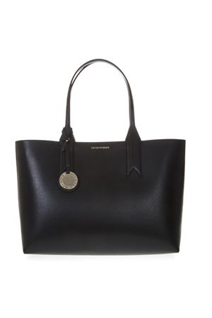 BLACK SHOPPER IN FAUX LEATHER WITH LOGO CHARM SS 2019 EMPORIO ARMANI | 2 | Y3D081YH15A88058