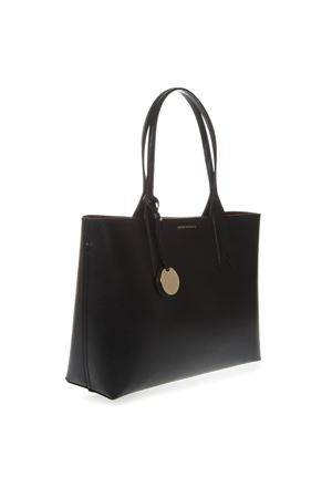 BLACK SHOPPER IN FAUX LEATHER WITH LOGO CHARM SS 2019 EMPORIO ARMANI   2   Y3D081YH15A88058