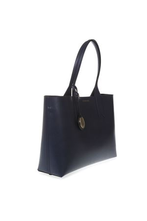 NIGHT BLUE SHOPPER IN FAUX LEATHER WITH LOGO CHARM SS 2019 EMPORIO ARMANI | 2 | Y3D081YH15A88293