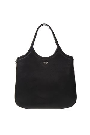HOBO BLACK LEATHER TOTE WITH ZIP AROUND SS 2019 EMPORIO ARMANI | 2 | Y3E139YEU1E80001
