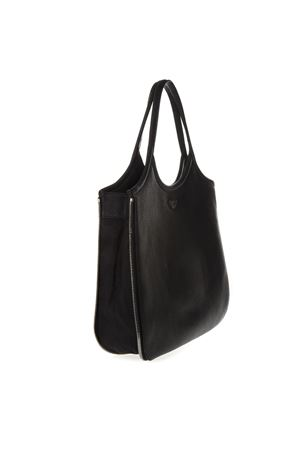 ded2b187e8e BORSA HOBO CON ZIP AROUND IN PELLE NERA PE 2019 - EMPORIO ARMANI ...