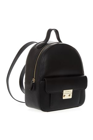 BLACK FAUX LEATHER BACKPACK SS 2019 EMPORIO ARMANI | 183 | Y3L023YH65A80001