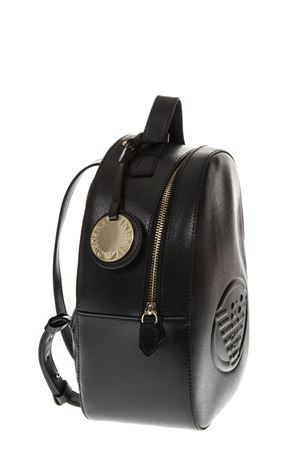 BLACK SAFFIANO FAUX LEATHER BACKPACK SS 2019 EMPORIO ARMANI | 183 | Y3L024YH18A80001