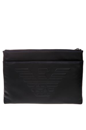 DOCUMENT HOLDER IN BLACK LEATHER WITH LOGO SS 2019 EMPORIO ARMANI | 2 | Y4P094YG90J81072