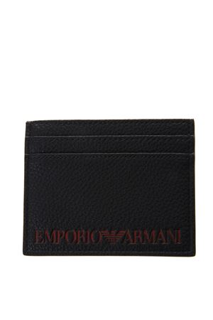 BLACK FAUX LEATHER CARD HOLDER WITH LOGO SS 2019 EMPORIO ARMANI | 34 | Y4R125YG89J83191
