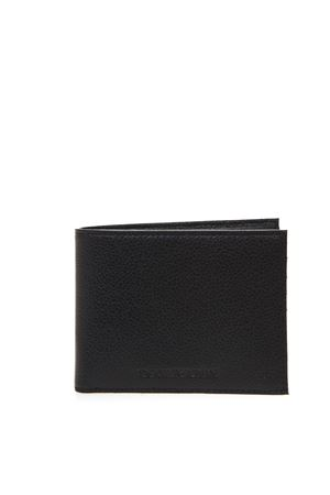 BLACK LEATHER WALLET WITH EMBOSSED LOGO SS 2019 EMPORIO ARMANI | 34 | Y4R165YEW1E81072