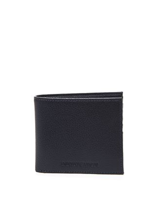 BLUE LEATHER WALLET WITH ENGRAVED LOGO SS 2019 EMPORIO ARMANI | 34 | Y4R168YEW1E80033