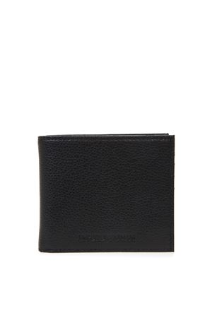 BLACK LEATHER WALLET WITH ENGRAVED LOGO SS 2019 EMPORIO ARMANI | 34 | Y4R168YEW1E81072