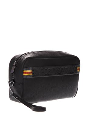 BEAUTYCASE IN BLACK FAUX LEATHER WITH MAXI LOGO SS 2019 EMPORIO ARMANI | 5 | Y4R180YEO1J81072