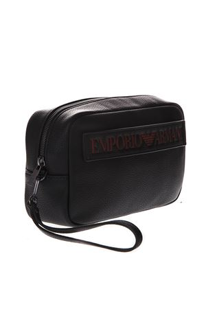 BEAUTYCASE IN BLACK FAUX LEATHER WITH MAXI LOGO SS 2019 EMPORIO ARMANI | 5 | Y4R180YG89J83191