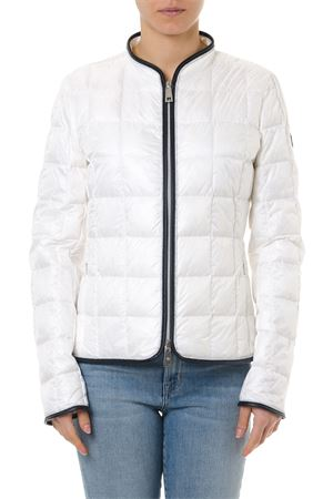 LIGHT IVORY DOWN JACKET WITH CONTRASTING EDGES SS 2019 FAY | 27 | NAW32383370GOSB009