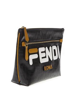 FENDI MANIA LOGO POUCH IN BLACK LEATHER SS 2019 FENDI | 2 | 7N0099A5N7F0CFM