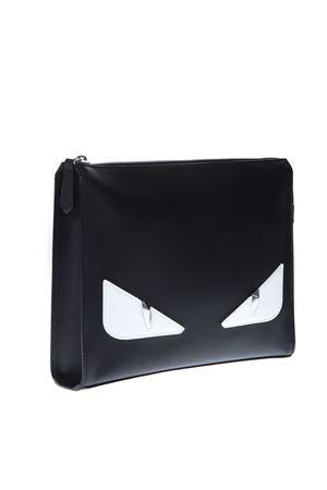 BAG BUGS BLACK LEATHER CLUTCH SS 2019 FENDI   2   7VA433A3DPF0CQT