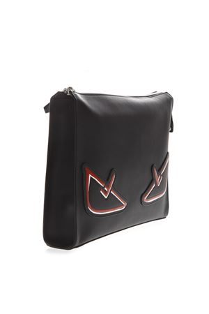 BLACK AND RED CLUTCH BAG BUGS IN LEATHER SS 2019 FENDI | 2 | 7VA433A72KF0P0N