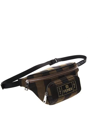 BELT BAG IN BROWN FABRIC WITH LOGO PATCH SS 2019 FENDI | 2 | 7VA446A6HYF164H