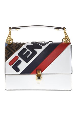 KAN I WHITE LEATHER BAG WITH FENDI MANIA LOGO FW 2018 FENDI | 2 | 8BT283A5PLF15AS