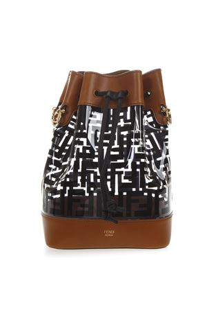 3baa03e88cc3 BLACK   BROWN MON TRESOR BUCKET BAG IN PU SS19 FENDI
