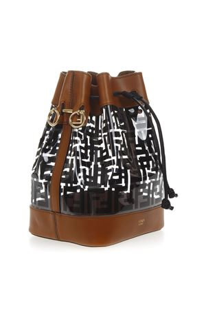 a001e6de8d59 ... BLACK   BROWN MON TRESOR BUCKET BAG IN PU SS19 FENDI