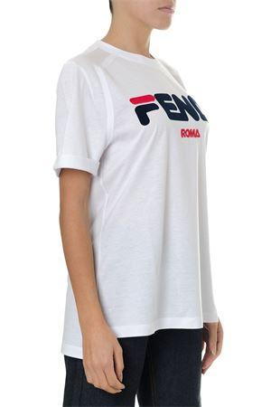 T-SHIRT FENDI ROMA BIANCA IN COTONE PE19 FENDI | 15 | FS7074A5H1F0ZNM