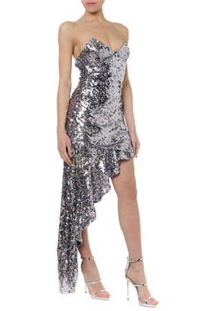 MAXI SHOWTIME LONG ASYMMETRIC SEQUINS DRESS SS19 FOR LOVE & LEMONS | 21 | CBS1255-HO18UNI SPARKLE
