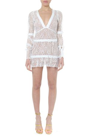 BRIGHT LIGHTS WHITE LACED MINI DRESS SS19 FOR LOVE & LEMONS | 32 | CD1782-HO18UNI WHITE
