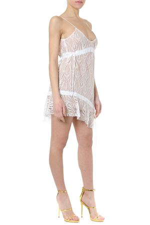 BRIGHT LIGHTS LACED ASYMMETRIC WHITE MINI DRESS SS19 FOR LOVE & LEMONS | 32 | CD1783-HO18UNI WHITE