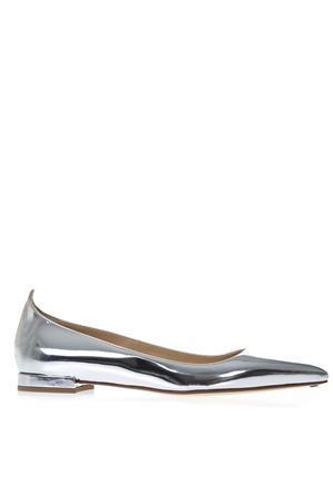 SILVER LEATHER MIRROR SLIPPERS SS19 FRANCESCO RUSSO | 150 | R1P508N213SILVER