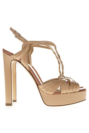 NUDE METAL STRAPPY SANDALS SS19 FRANCESCO RUSSO | 87 | R1S384N200NUDE