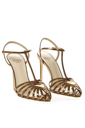 GOLD MIRROR CAGE LEATHER SANDALS SS19 FRANCESCO RUSSO | 87 | R1S502N213GOLD