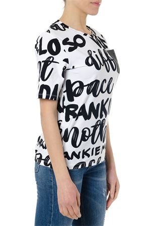 BLACK & WHITE COTTON LETTERING T-SHIRT SS19 FRANKIE MORELLO | 15 | FWCS9107TSMELUSINEK69