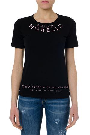 CLELIEN BLACK COTTON T-SHIRT SS19 FRANKIE MORELLO | 15 | FWCS9150TSCLELIEN01