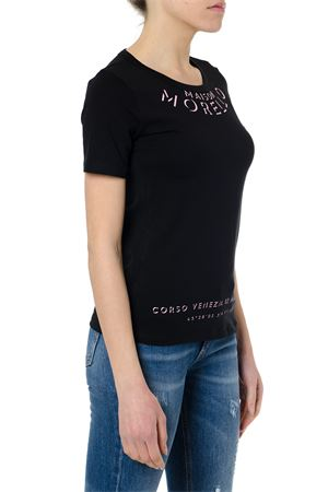 T-SHIRT CLELIE NERA IN COTONE PE19 FRANKIE MORELLO | 15 | FWCS9150TSCLELIEN01