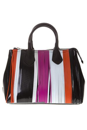 BLACK GUM BAG WITH MULTICOLORED FRINGE SS 2019 GIANNI CHIARINI | 2 | BS3600T GUM FR STRUNI10305