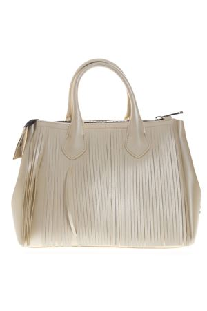 BORSA A MANO FOURTY IN VINILE CREMA PE 2019 GIANNI CHIARINI | 2 | BS3700T/19PE FR SATINUNI3890