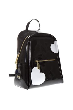 BLACK GLOSSY HEART BACKPACK SS 2019 GIANNI CHIARINI | 183 | ZN1743/19PEGLOSSY HEARTUNI10305