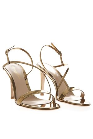 MANHATTAN GOLD METALLIC LEATHER SANDALS SS19 GIANVITO ROSSI | 87 | G3019285RICMEKONG