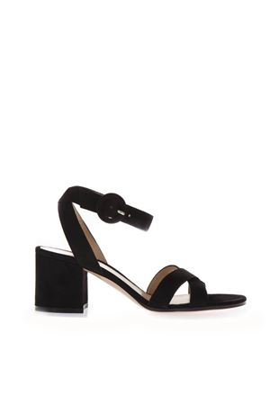 BLACK SUEDE SANDALS WITH CHUNKY HEEL SS 2019 GIANVITO ROSSI | 87 | G3144660RICBLACK