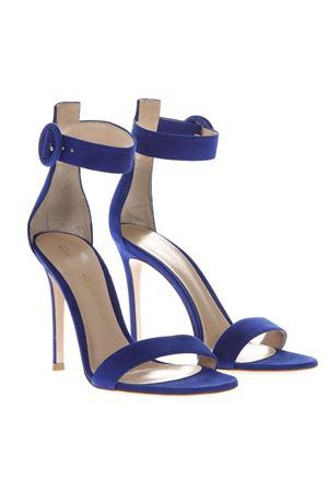 PORTOFINO BLUE SUEDE SANDALS SS19 GIANVITO ROSSI | 87 | G6109615RICAZURE