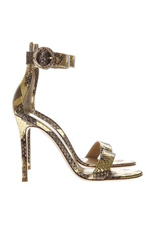 PORTOFINO PYTHON LEATHER SANDALS SS19 GIANVITO ROSSI | 87 | G6109615RICCAMEL